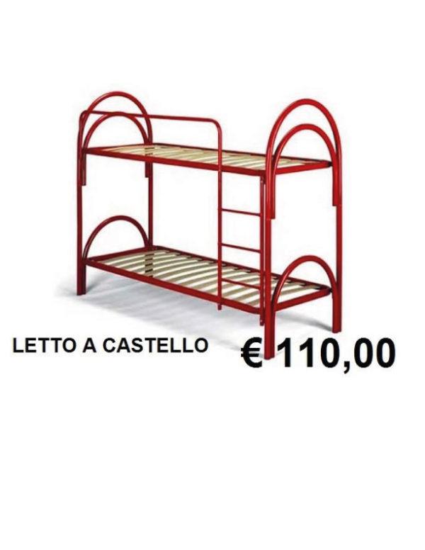LETTO A CASTELLO IN METALLO DOPPIO ARCO - Tornese Mobili